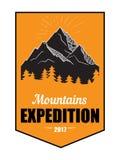 Vintage américain Logo Badge de montagnes Photos libres de droits