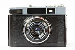 Vintage amateur camera. Isolated on white stock photos