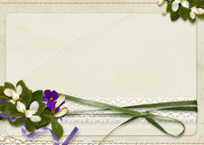 Vintage amazing background with bouquet and with space for text Stock Photo