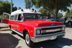 Vintage Ambulance during Los Angeles American Heroes Air Show Royalty Free Stock Photos