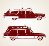 Vintage Ambulances Stock Images