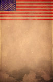 Vintage America flag poster - card - template. Grunge document Royalty Free Stock Photos