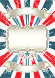 Vintage American Background. Beautifull illustration of vintage American Background Royalty Free Stock Images