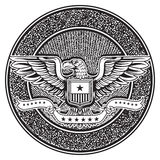 Vintage american badge emblem Stock Photo