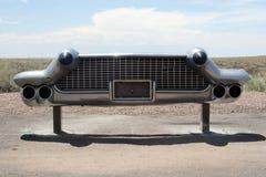Vintage American car bumper. Classic American car bumper at the junk yard Stock Images
