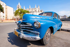 Vintage american car  in Havana Stock Photo