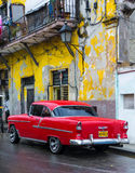 Vintage american car in Havana Royalty Free Stock Image
