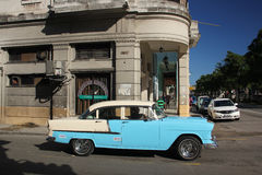 Vintage american car in Havana Royalty Free Stock Photo