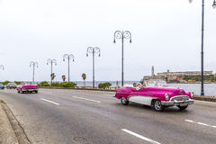 Vintage American car, Havana, Cuba Royalty Free Stock Photos