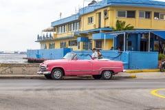 Vintage American car, Havana, Cuba. Vintage American car parked on the Malecon, Havana, Cuba Stock Image