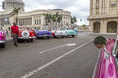 Vintage American car tour, Havana, Cuba Royalty Free Stock Photo
