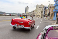 Vintage American car tour, Havana, Cuba Royalty Free Stock Photos