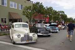 Vintage American cars at Car Show Royalty Free Stock Photography