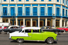 Vintage american cars in downtown Havana Stock Image