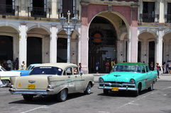 Vintage American cars in Havana, Cuba Stock Photo