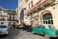 Vintage american cars in Havana Stock Images