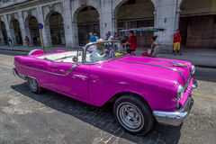 Vintage American cars near Central Park, Havana, Cuba #8 Royalty Free Stock Photos