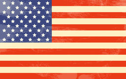 Vintage American Flag Royalty Free Stock Photography