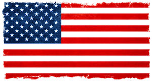 Vintage american flag. Banner background election results Stock Photos