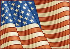 Vintage American Flag (close up) Stock Images