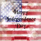 Vintage american flag Happy Independence day Vector. 4th of july old postcards. Vintage american flag Happy Independence day Vector. 4th of july old postcard vector illustration