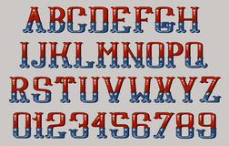 Vintage american font Stock Image