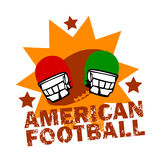 Vintage American Football Logo Royalty Free Stock Images