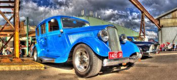 Vintage American Ford Royalty Free Stock Photo