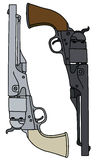 Vintage american handguns Stock Image