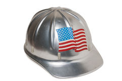 Vintage American Hard Hat Royalty Free Stock Photos