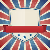Vintage  american independence shield poster Royalty Free Stock Photos