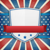 Vintage  american independence shield poster Stock Photography