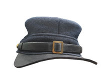 Vintage American infantry soldier cap isolated. Stock Image
