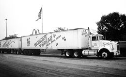Vintage American Life - Road Train truck Stock Images
