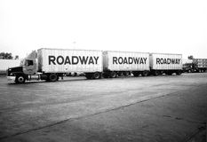 Vintage American Life - Road Train truck Stock Photo