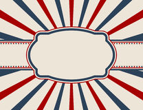 Vintage American patriotic background Stock Images