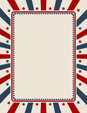 Vintage American patriotic background Stock Photography