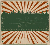 Vintage American Poster. Illustration of a grunge poster background for holidays, fourth of july or independence day Stock Images