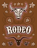 Vintage American Rodeo vector set - elements  Stock Photo