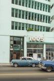 Vintage american 50s cars Havana Royalty Free Stock Image