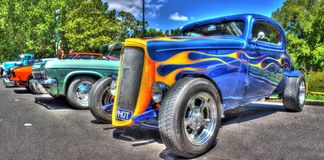Vintage American 1930s Chevy Coupe hot rod Royalty Free Stock Photo