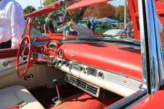 Vintage american sports car interior Stock Photo