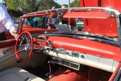 Vintage american sports car interior Royalty Free Stock Photography