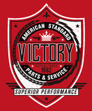 Vintage Americana Style Victory Label Royalty Free Stock Image
