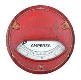 Vintage ammeter Stock Images