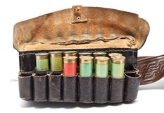Vintage ammunition belt Stock Images