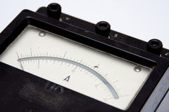 Vintage ampere-meter Stock Photo