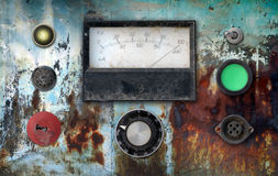Vintage ampere meter control panel Royalty Free Stock Images
