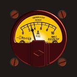 Vintage ampermeter royalty free stock photography