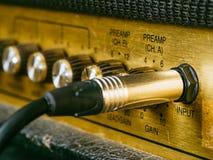 Vintage amplifier input Stock Photo